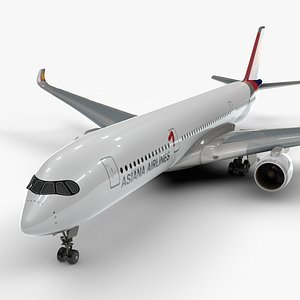 a350-900 asiana airlines l1136 3D model