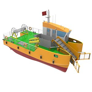 WASTE  COLLECTION  VESSEL 3D