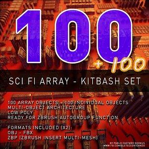 3D fi array kitbash set