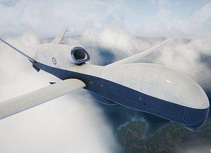 3D MQ-4C Triton UAV