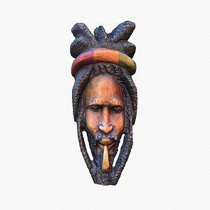 3D Legendary Bob Marley wall mask high-poly