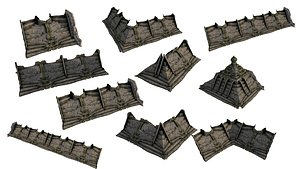 Pyramid Temple Wall 01-10 3D model