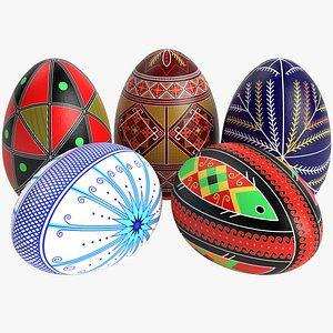 pysanky easter eggs model