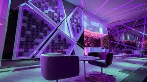 bar scene interior 3D model