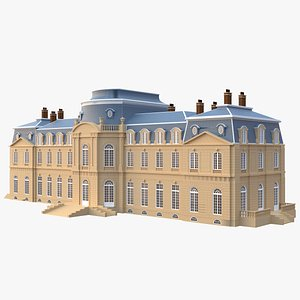 3D model french mansion architectural