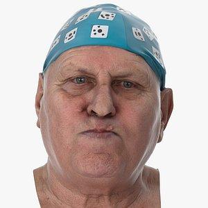 3D Homer Human Head Cheek Puff AU34 Clean Scan model