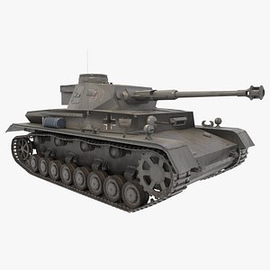 Panzer IV | Game Asset 3D model