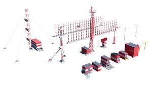 3D airport techical structures model