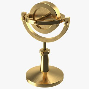Vintage Brass Lecture Gyroscope 3D model
