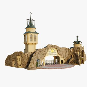 Moscow Zoo Entrance 3D model