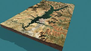 mountain landscape model