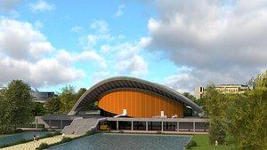 3D kongresshalle berlin model