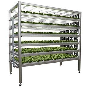 3D model Vertical farm hydroponic