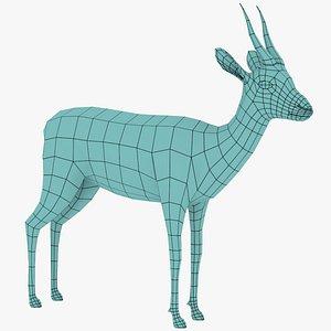 3D Gazelle Low Poly model
