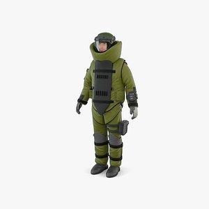 3D EOD suit