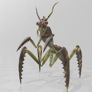 Lumberjack Alien Mantis 3D model