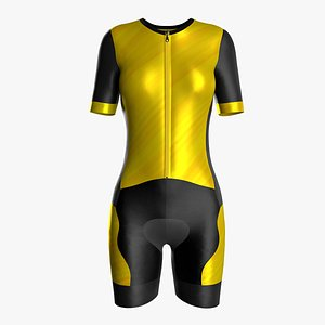 3D bicycle jersey women model