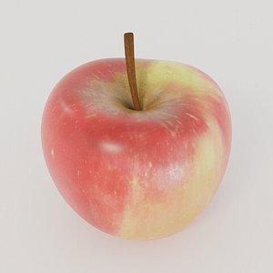 photorealistic apple 3D model