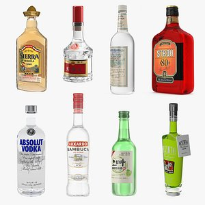 3D Alcoholic Drinks Collection 6