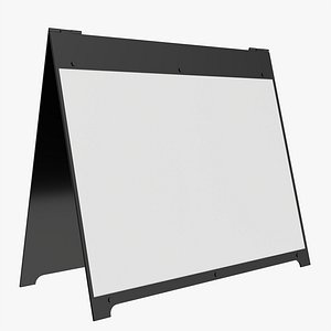 3D ad advertising stand model