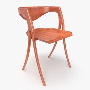 3D wood chair furniture design model