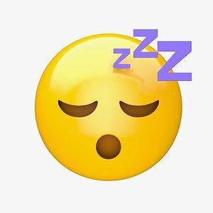 Apple Sleeping Face 3D model