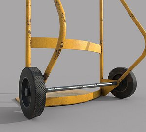 3D Hand Trolley Drumtruck