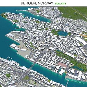 Bergen Norway 3D model