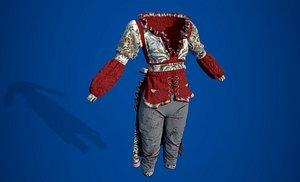 3D model harley quinn costume
