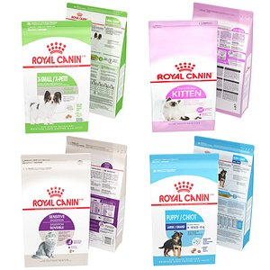 3D Royal Canin Pet Food Collection 4 in 1