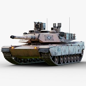Rigged M1A2 Abrams GameReady LODs