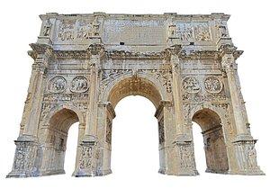 3D Arco di Costantino Rome Triumphal Arch