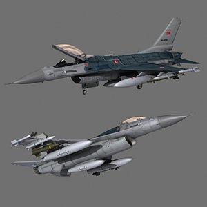 tuaf f-16 3D model