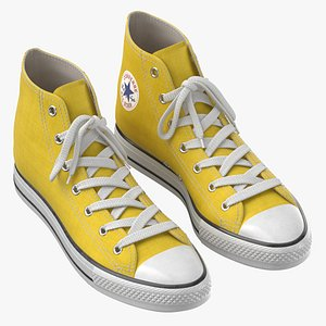 3D model Basketball Shoes Yellow