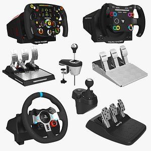 Racing Steering Wheel Controller Collection 3D model