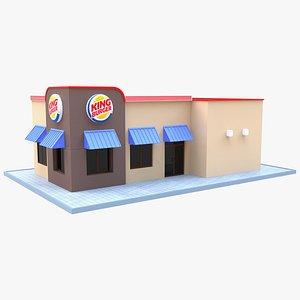 Burger King Restaurant 01 3D model
