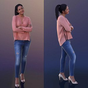 woman casual standing 3D