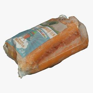 3D carrot pack model