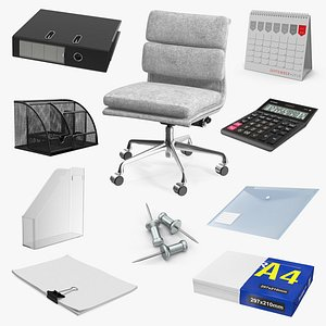 Office Equipment Collection 2 3D model