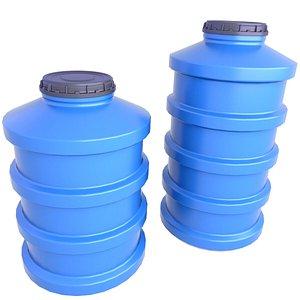 Plastic Water Storage Tank 5 3D