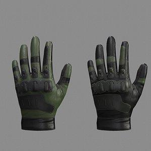 gloves tactical 3D model