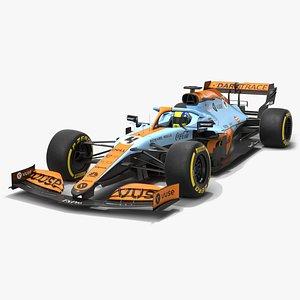 McLaren F1 2021 MCL35M Formula 1 Monaco Livery 3D
