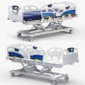 3D hospital room equipment model