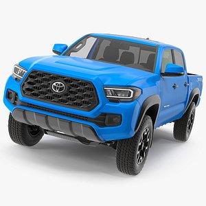 3D model Toyota Tacoma TRD Off Road Voodoo Blue 2021
