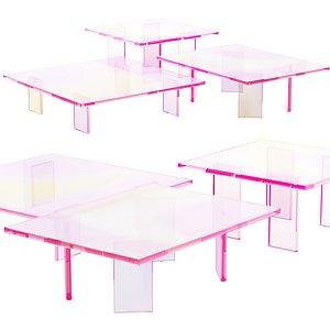 016 Multi-colored Pearl custom coffee table 02 3D model model