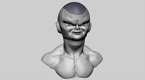 frieza head ztl 3D model