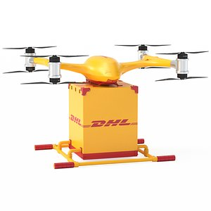 Quadcopter DHL Drone 3D model
