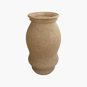 Terracotta vase 3D