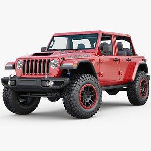 3D Jeep Wrangler Rubicon 392  V8  2021 model