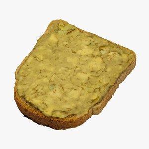 3D toast avocado cream 01